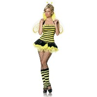 Leg Avenue Women's Queen Bee Costume%カンマ% Yellow/Black%カンマ% X-Small