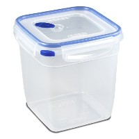 Sterilite 03334706 Ultra Seal 12.0 Cup Square Food Storage Container, Clear and T-Blue by STERILITE