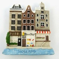 Art Paint Design Amsterdam Shoe Shop Holland Fridge Magnet High Quality Resin Fridge 3d Magnet by...