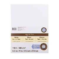 Recollections White Heavyweight Cardstock Paper, 8.5 X 11 - 100 Sheets by Recollections