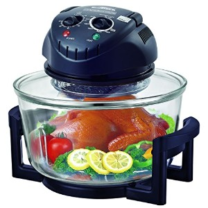 Hometech 12 Quart 1200W Halogen Tabletop Countertop Convection Oven with Extender Ring,Frying pan...
