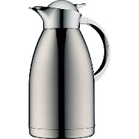Alfi Albergo Top Therm真空断熱カラフェfor Hot and Cold Beverages、1 L、ステンレススチール 2 Liter
