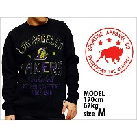 送料無料 SPORTIQE APPAREL CO. REGATTA BUTLER LOS ANGELES LAKERS SWEAT SHIRTS BLACK PURPLE YELLOW...