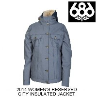 2014 686 シックスエイトシックス ジャケット WOMEN'S RESERVED CITY INSULATED JACKET INK TWILL DENIM