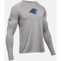 Under Armour NFL Combine Authentic UA Carolina Panthers Logo Long Sleeve Shirt メンズ ロンT Tシャツ...