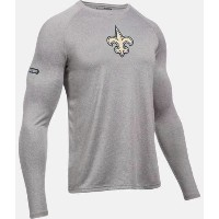Under Armour NFL Combine Authentic UA New Orleans Saints Logo Long Sleeve Shirt メンズ ロンT Tシャツ...