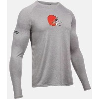 Under Armour NFL Combine Authentic UA Cleveland Browns Logo Long Sleeve Shirt メンズ ロンT Tシャツ アンダーアーマー...