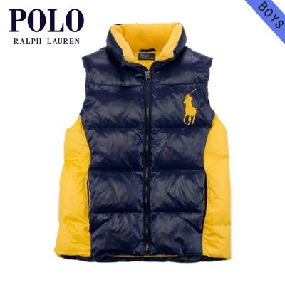 【35%OFFセール 8/17 10:00~8/23 9:59】 ポロ ラルフローレン キッズ POLO RALPH LAUREN CHILDREN 正規品 子供服 ボーイズ ダウンベスト Tryol Big Pony Down Vest #22358346 NAVY