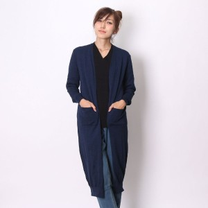 【SALE 50%OFF】アトモス atmos LAB MAXI KNIT CARDIGAN (NAVY)