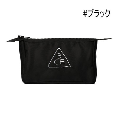 3CE ポーチ Pouch Small/Original (Small, Black)[並行輸入品]