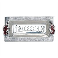 "University of Arkansas Razorbacks 6 "" x12 "" Serving Trayアーサー・裁判所デザインアルミニウム"