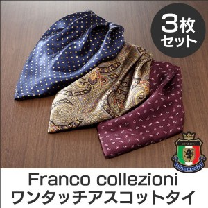 Franco collezioni ワンタッチアスコットタイ 3枚組 A