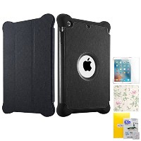 BabaraBerry 9.7 ipad case smart covers for kids cases ケース cover ブランド ピンク ワイン 可愛い かわいい レザー 衝撃 フィルム...
