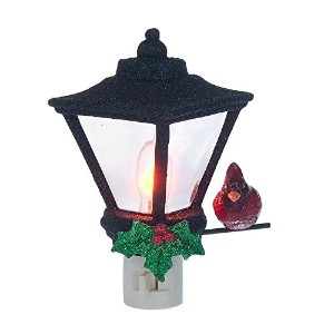 アクリルクリスマスランタンwith Holly and Cardinal Holiday Night Light – Gift Boxed