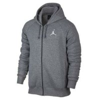 Jordan Flight Fleece Full Zip Hoodie メンズ Carbon Heather/White パーカー ジョーダン NIKE ナイキ