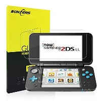 Newニンテンドー2DS LL 保護フィルム-NONZERS 任天堂 2DS LL ガラス フィルム 強化保護ガラス newニンテンドー2DS LL 液晶保護フィルム 高精細 9H 飛散防止...