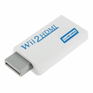 VCANDO Wii HDMIコンバーター HDMIアダプタ 変換 Wii 2HDMIコンバーター 480Pに変換可能Wii入力→HDMI出力変換 Wii to HDMI Adapter「white...