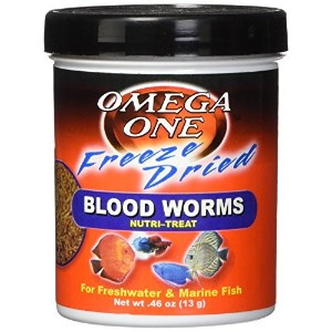 Omega One Freeze Dried Blood Worms, .46 oz. by Omega One