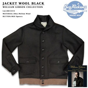 BUZZ RICKSON'S(バズリクソンズ) JACKET WOOL BLACK Lot.BR13315-01)BLACK