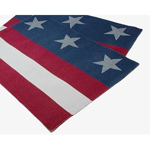 Patriotic Stars and StripesリバーシブルPlacemat – 2のセット