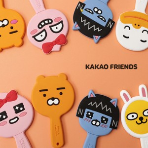 【Kakao friends】カカオフレンズゴムハンドルミニ手鏡/Kakao friends rubber handle mini hand mirror/8種・韓国KAKAO FRIENDS正品