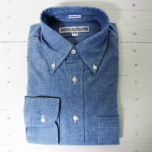 individualized shirts インディビジュアライズドシャツ [ls][chambray][standard][blue]