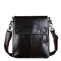 Zhhlaixing ショルダーバッグ Men's Boys Cowhide Leather Crossbody Shoulder Bag Backpack Daypack Briefcase