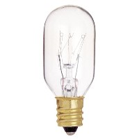 Satco S4718 130V Candelabra Base 15-Watt T7 Light Bulb, Clear by Satco