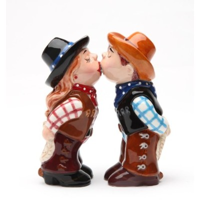 Magnetic Salt and Pepper Shaker–カウボーイand Cowgirl