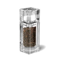 Cole & Mason Precision Cube Acrylic Combi Pepper Mill with Salt Shaker - Transparent by Cole & Mason
