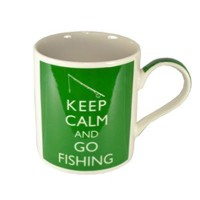 Keep Calm And Go Fishing - Fine China Mug by Lesser & Pavey