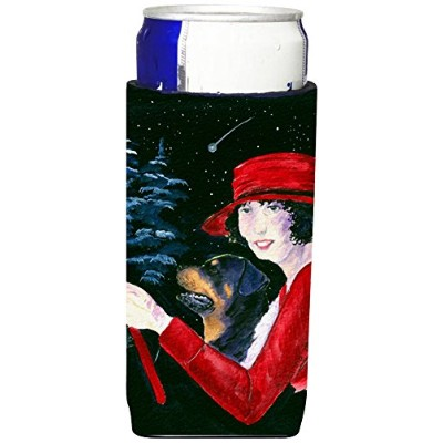 Caroline 's Treasures ss8551-parent Lady Driving with Her Rottweiler Ultra Beverage Insulators...