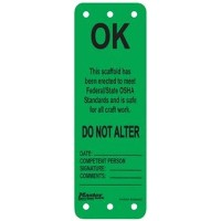 Master Lock S4702 Green OK Scaffold Tag - This Scaffold Has Been Erected [並行輸入品]