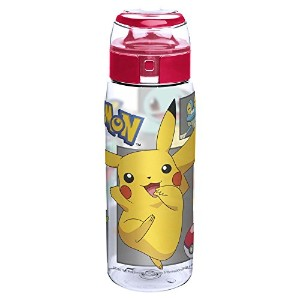 Zak! Designs Pokemon Reusable Tritan Plastic Water Bottle with Flip Top Cap, Featuring Starter...