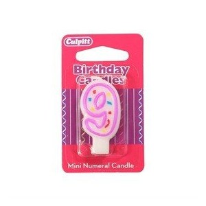 Mini Party Candle '9'