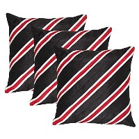 Stripy Set of 3 Poly Dupion Cushion Covers