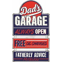 Dad's Garage Rates and Rules Linked Steel Sign プレート☆アメリカ看板☆アンティーク・ブリキ・ビンテージ・JUNK・ジャンク・錆・サビ風・ガーデン...