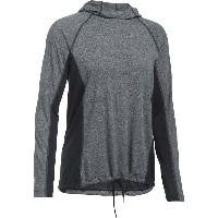 アンダーアーマー Under Armour レディース トップス パーカー【Threadborne Twist Pullover Training Hoodie】Black/Black...