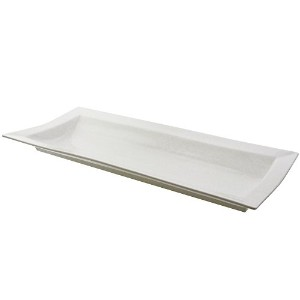 "10 Strawberry Street Whittier 26.75 "" X 12 "" Ridge Platter、ホワイト"