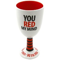 Enesco Our Name Is Mud YouレッドMy Mind Goblet Mug , 7-inch