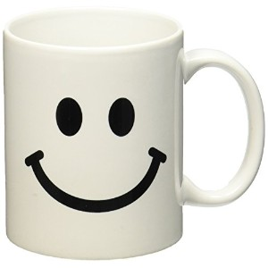 3dローズInspirationzStore Smiley Faceコレクション–Smiley Face Square–ブラックとホワイトスマイル–Happy Smiling...