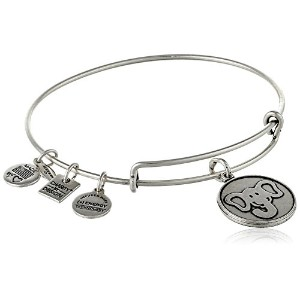 """Alex and Ani """" Charity by Design """" The Elephant Expandable Wire Bangle Bracelet , 7.75"""" One Size"""