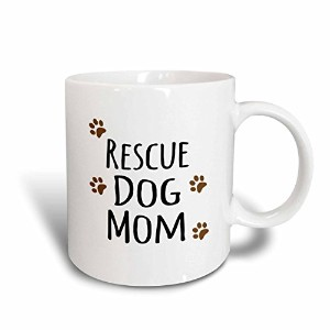 3dローズInspirationzStoreペットデザイン–Rescue Dog Mom–Doggie by Breed–MuddyブラウンPaw Prints–犬愛好家–...
