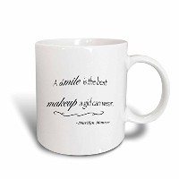 3dローズToryAnneコレクション引用–A Smile Is The Best Makeup A Girl Can Wear、マリリン・モンローQuote–マグカップ 15-oz...
