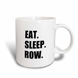 3dローズInspirationzStore Eat Sleepシリーズ–Eat Sleep行–Fun Gift for Rowing Enthusiasts Rowerスポーツブラックテキス...