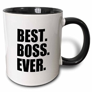 3dローズInspirationzStoreタイポグラフィ–Best Boss Ever–楽しい面白いユーモアGifts for the Boss–Work Office Humor–...