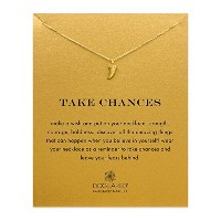 Dogeared Take Chances Horn Necklace , Gold Dipped