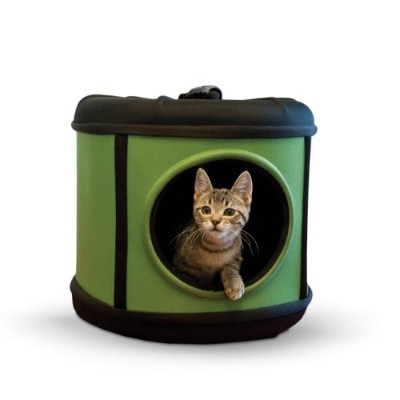 K&H Manufacturing Mod Capsule for Pets, 17 by 17 by 15.5-Inch, Green/Black by K&H Manufacturing