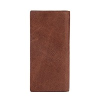 Zhhlaixing 高品質 Mens Business Bifold Purse Luxury Leather Checkbook Wallet Handbag Christmas Gift