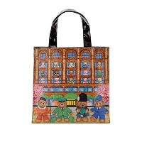 Harrods(ハロッズ)トートバッグ ショッピングバッグ - Sサイズ / Tote Shopping Bag Size:S [正規品] (ナイトブリッジ)